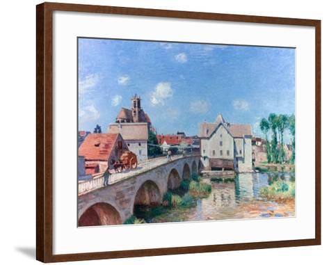 The Bridge at Moret, 1893-Alfred Sisley-Framed Art Print