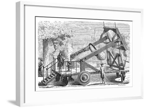 Giant Burning Glass of the Academie Des Sciences, Paris, 18th Century-Amedee Guillemin-Framed Art Print