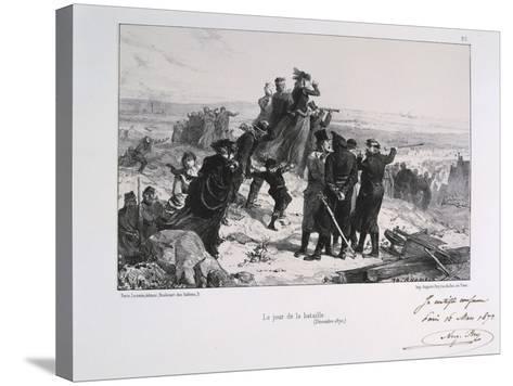 Le Jour Du Bataille' ('The Day of the Battle), Siege of Paris, Franco-Prussian War, 1870-Auguste Bry-Stretched Canvas Print