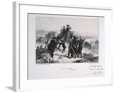 Le Jour Du Bataille' ('The Day of the Battle), Siege of Paris, Franco-Prussian War, 1870-Auguste Bry-Framed Art Print
