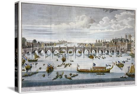 North Prospect of Westminster Bridge, London, C1750-Benjamin Cole-Stretched Canvas Print