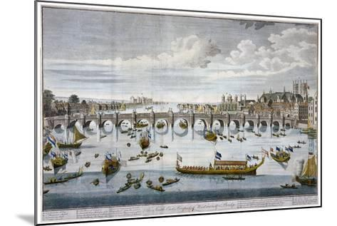 North Prospect of Westminster Bridge, London, C1750-Benjamin Cole-Mounted Giclee Print