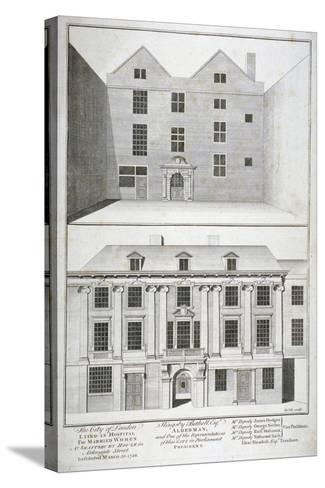 City of London Lying-In Hospital for Married Women, Aldersgate Street, London, C1750-Benjamin Cole-Stretched Canvas Print