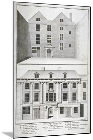City of London Lying-In Hospital for Married Women, Aldersgate Street, London, C1750-Benjamin Cole-Mounted Giclee Print