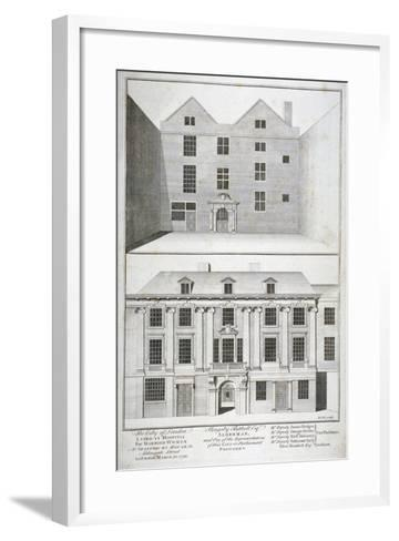 City of London Lying-In Hospital for Married Women, Aldersgate Street, London, C1750-Benjamin Cole-Framed Art Print