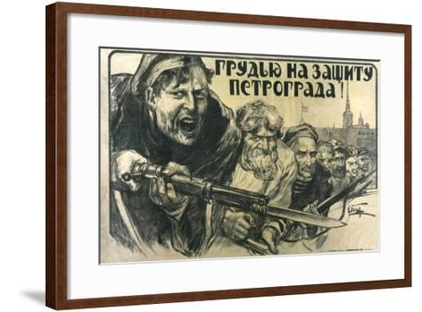 Stand Up for Petrograd!, Poster, 1919-Alexander Apsit-Framed Art Print