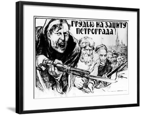 Defence of Petrograd by All Our Forces, 1919-Alexander Apsit-Framed Art Print