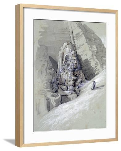 Temple of Aboo Simbel, 19th Century-Amelia Edwards-Framed Art Print