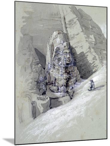 Temple of Aboo Simbel, 19th Century-Amelia Edwards-Mounted Giclee Print