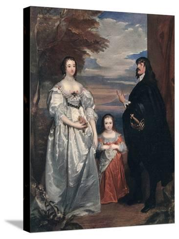 The Earl and Countess of Derby and Child, 1632-1641-Sir Anthony Van Dyck-Stretched Canvas Print