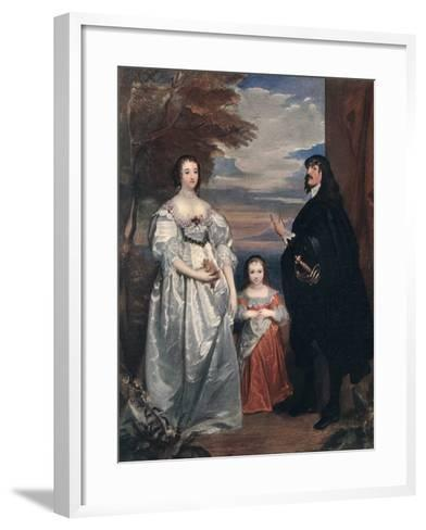 The Earl and Countess of Derby and Child, 1632-1641-Sir Anthony Van Dyck-Framed Art Print