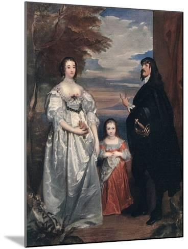 The Earl and Countess of Derby and Child, 1632-1641-Sir Anthony Van Dyck-Mounted Giclee Print