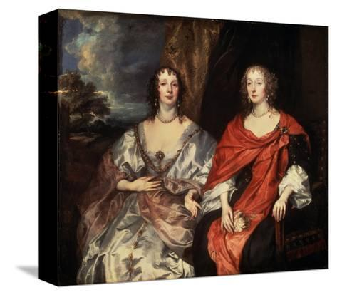 Portrait of Anne Dalkeith, and Anne Kirke, 1630S-Sir Anthony Van Dyck-Stretched Canvas Print