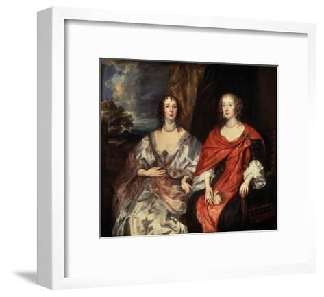 Portrait of Anne Dalkeith, and Anne Kirke, 1630S-Sir Anthony Van Dyck-Framed Art Print