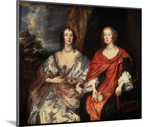 Portrait of Anne Dalkeith, and Anne Kirke, 1630S-Sir Anthony Van Dyck-Mounted Giclee Print