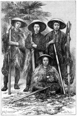 Japanese Peasants, 1895-Armand Kohl-Stretched Canvas Print