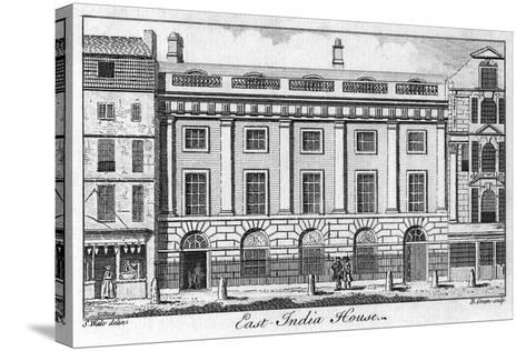 The East India House, City of London, Late 18th Century-B Green-Stretched Canvas Print