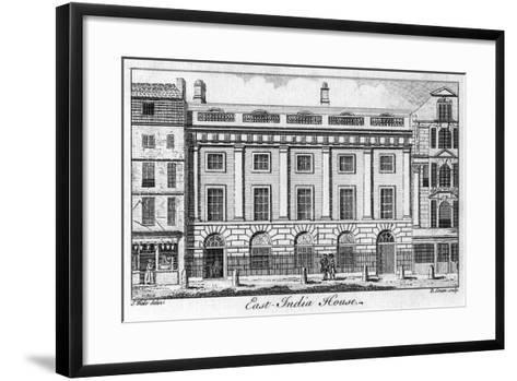 The East India House, City of London, Late 18th Century-B Green-Framed Art Print