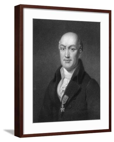 Jean Baptiste Joseph Delambre, French Mathematician and Astronomer-B Holl-Framed Art Print