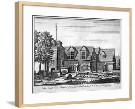South-East Prospect of the Parish Church of St John-At-Wapping, London, C1750-Benjamin Cole-Framed Art Print