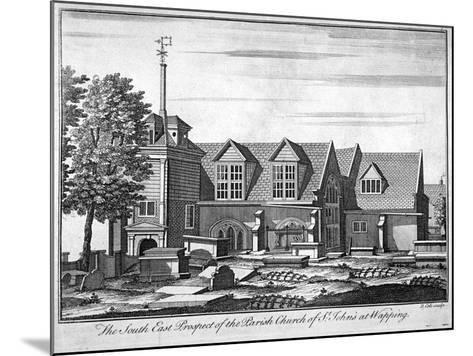 South-East Prospect of the Parish Church of St John-At-Wapping, London, C1750-Benjamin Cole-Mounted Giclee Print