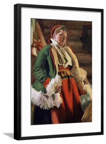 Braskkulla, a Peasant Girl from Moro, 1911-1912-Anders Leonard Zorn-Framed Art Print