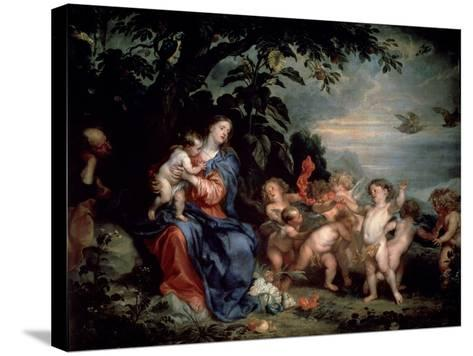 Rest on the Flight into Egypt (Virgin with Partridge), C1629-1630-Sir Anthony Van Dyck-Stretched Canvas Print
