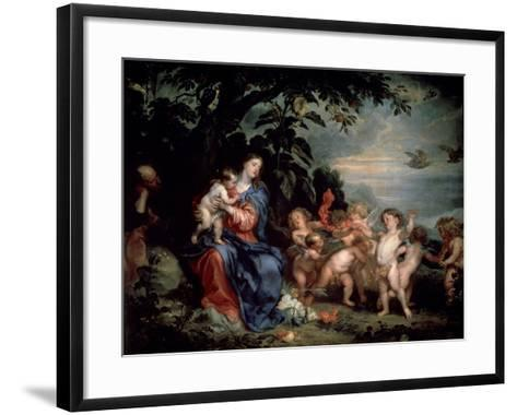 Rest on the Flight into Egypt (Virgin with Partridge), C1629-1630-Sir Anthony Van Dyck-Framed Art Print