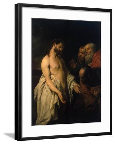 Appearance of Christ to His Disciples, 1625-1626-Sir Anthony Van Dyck-Framed Art Print
