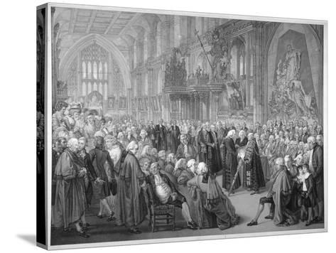 Interior of the Guildhall, City of London, 1782-Benjamin Smith-Stretched Canvas Print