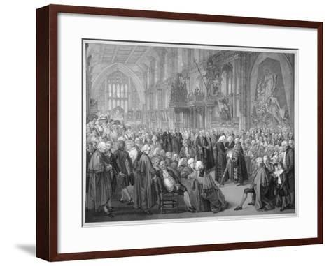 Interior of the Guildhall, City of London, 1782-Benjamin Smith-Framed Art Print