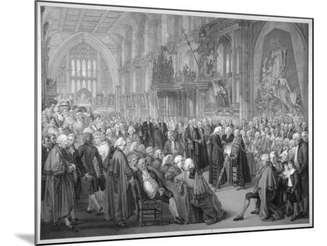 Interior of the Guildhall, City of London, 1782-Benjamin Smith-Mounted Giclee Print