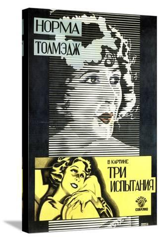Poster of American Actress and Film Star Norma Talmadge, 1926-Alexander Naumov-Stretched Canvas Print