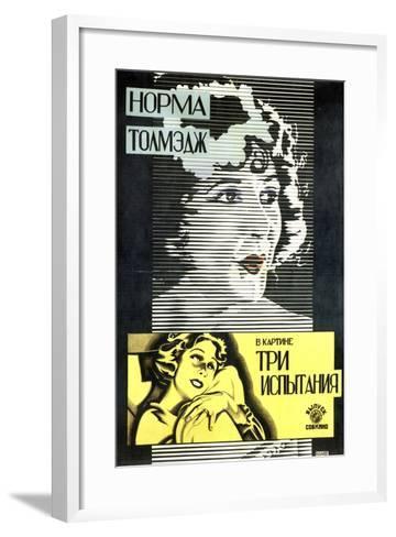 Poster of American Actress and Film Star Norma Talmadge, 1926-Alexander Naumov-Framed Art Print