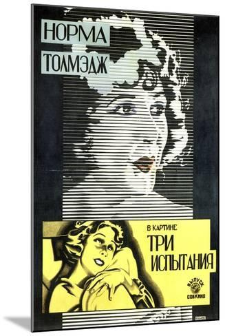 Poster of American Actress and Film Star Norma Talmadge, 1926-Alexander Naumov-Mounted Giclee Print
