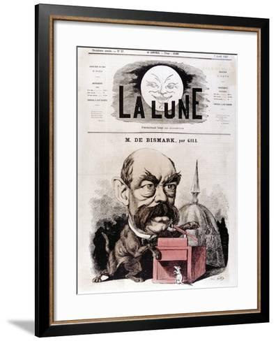 Otto Von Bismarck German Statesman, When Conservative Deputy and Inspector of Dykes, 1867-Andre Gill-Framed Art Print