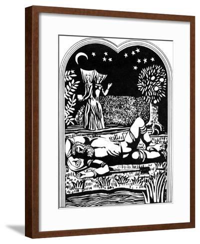 Illustration from the Decameron, 1978-Alexander Ponomarev-Framed Art Print