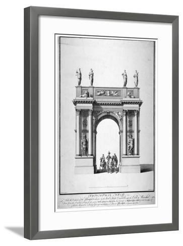 Triumphal Arch on the West End of Westminster Hall, London, 1761-Anthony Walker-Framed Art Print