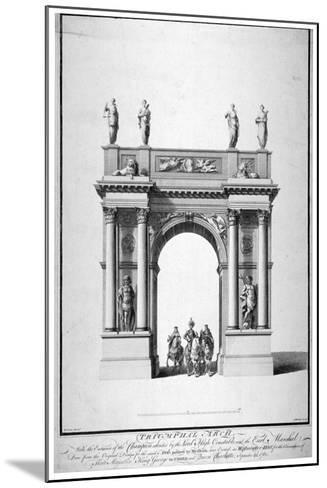 Triumphal Arch on the West End of Westminster Hall, London, 1761-Anthony Walker-Mounted Giclee Print