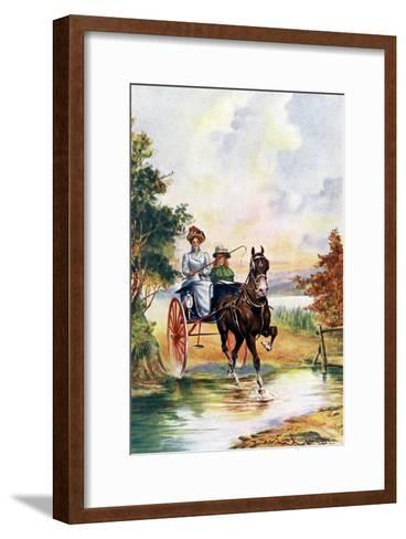 A Smart Turn-Out, 1902-Arthur JC Rolfe-Framed Art Print