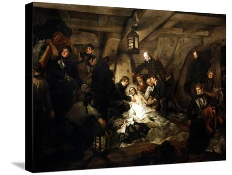 The Death of Admiral Lord Nelson, 1805-Arthur William Devis-Stretched Canvas Print