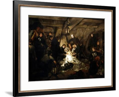 The Death of Admiral Lord Nelson, 1805-Arthur William Devis-Framed Art Print