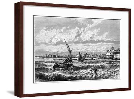 Tripoli from the Roadstead, C1890-Barbant-Framed Art Print