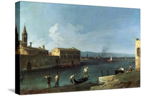 View of Venice, 18th Century-Canaletto-Stretched Canvas Print