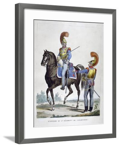 Uniform of the 1st Regiment of Carabiniers, France, 1823-Charles Etienne Pierre Motte-Framed Art Print