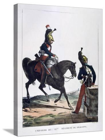Uniform of the 12th Regiment of Dragoons, France, 1823-Charles Etienne Pierre Motte-Stretched Canvas Print