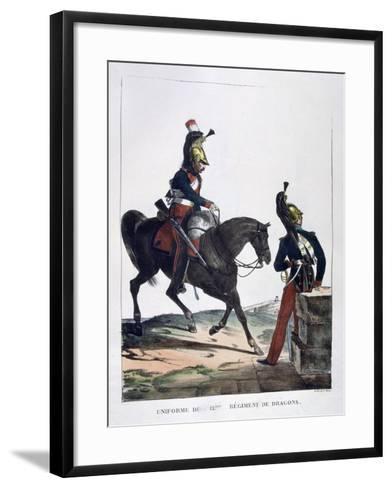 Uniform of the 12th Regiment of Dragoons, France, 1823-Charles Etienne Pierre Motte-Framed Art Print
