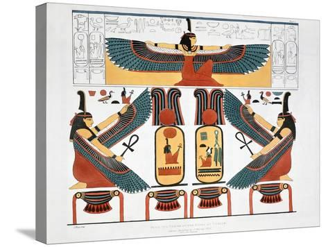 Mural from the Tombs of the Kings at Thebes, 1820-Charles Joseph Hullmandel-Stretched Canvas Print