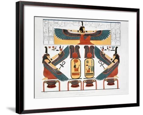 Mural from the Tombs of the Kings at Thebes, 1820-Charles Joseph Hullmandel-Framed Art Print