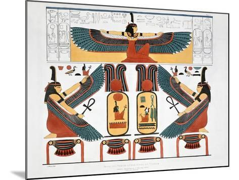 Mural from the Tombs of the Kings at Thebes, 1820-Charles Joseph Hullmandel-Mounted Giclee Print